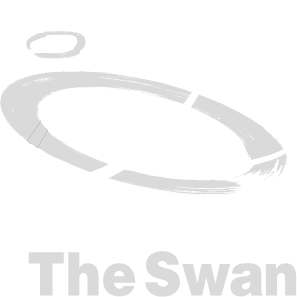 Orchestra of the Swan logo (white)